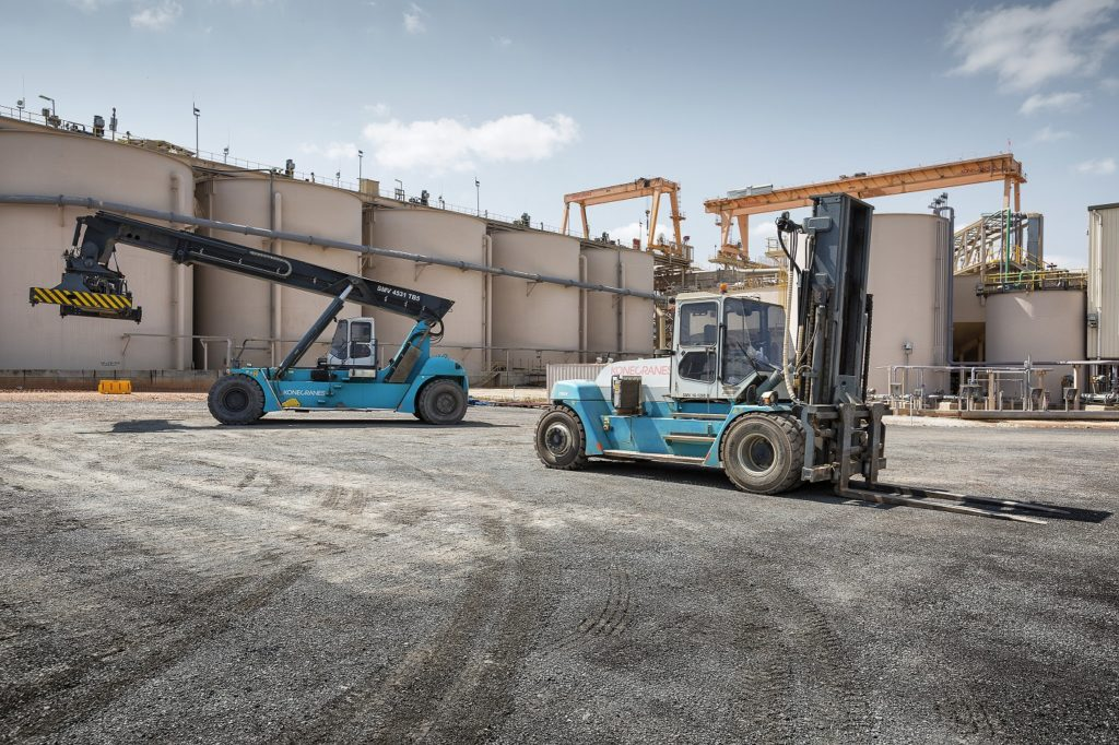 Konecranes Lift Trucks on a Gold Mine in Ghana.