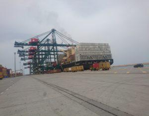 Vessel berthed at LCT, Lomé Port, Togo.